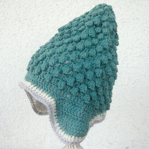 Buddha Beanie Aqua - comes lined or not lined - baby & child