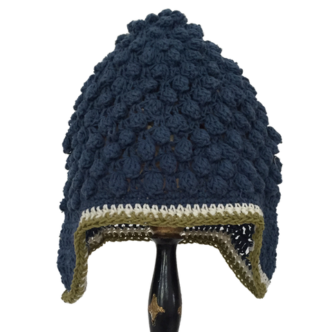 Buddha Beanie Blue - comes lined or not - baby & child