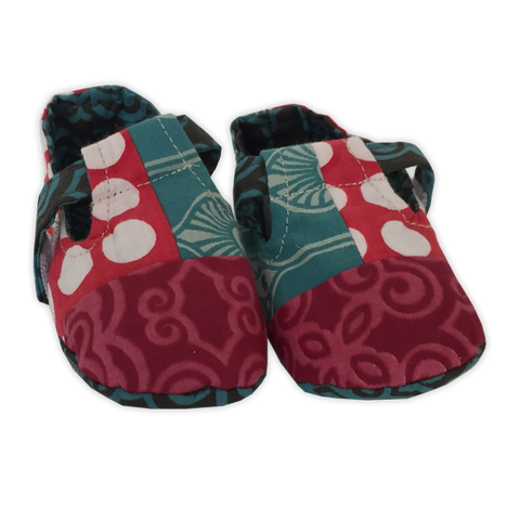 Retro Scrappy Baby Booties - in 2 sizes
