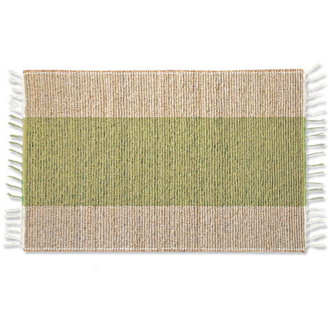 Green Stripe Vetiver Bathmat