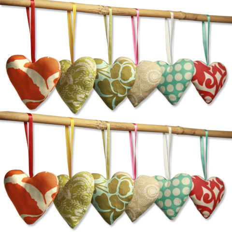 Set of 12 Vetiver Sachet Hearts