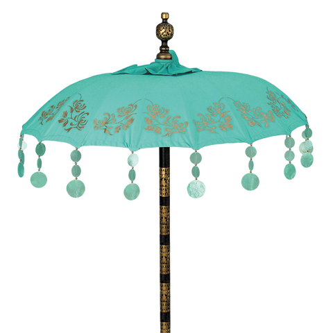 Turquoise Chrysanthemum Umbrella in 3 sizes