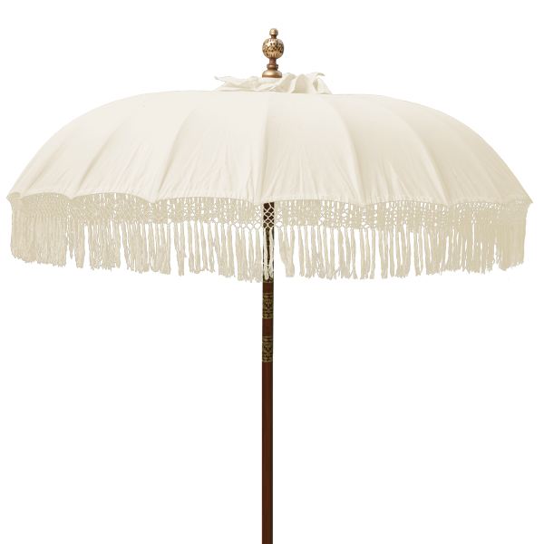Natural Fringed Umbrella in 2 sizes