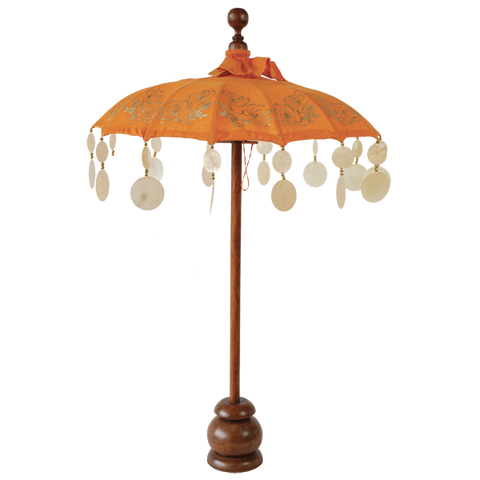 Orange Chrysanthemum Umbrella in 2 sizes