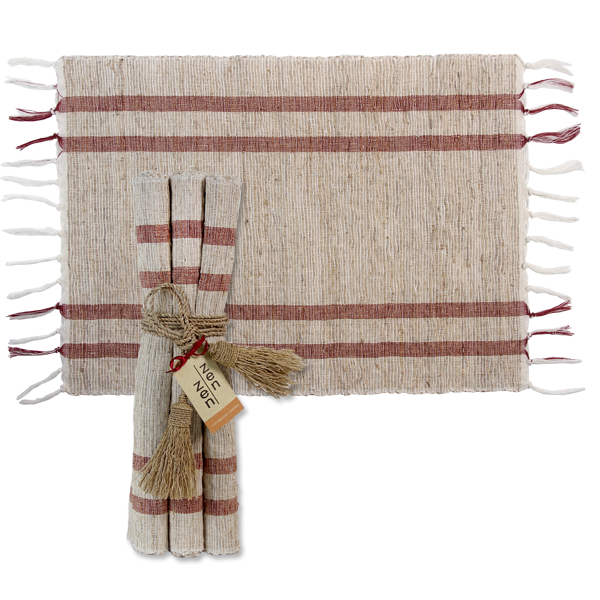 Coral Retro Vetiver Placemats