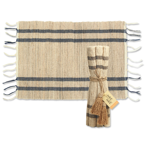 Set of 6 - Sand and Sea Vetiver Placemats