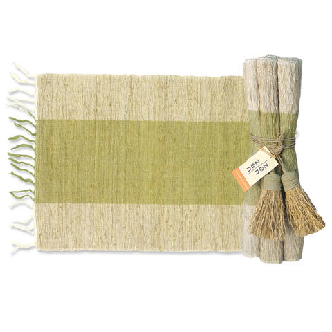 Set of 6 - Olive Vetiver Placemats