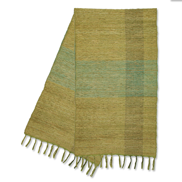 Green Block Vetiver Runner