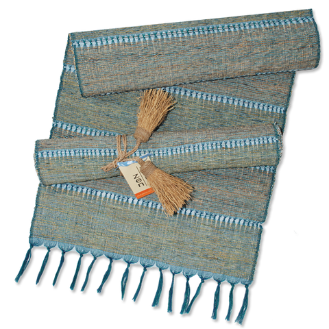 Indigo Stripes Vetiver Runner