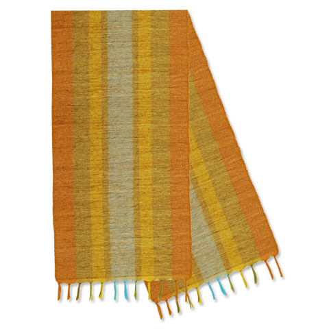 Citrus Fiesta Stripes Vetiver Runner