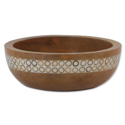 Natural Bamboo Inlaid Mango Small Salad Bowl