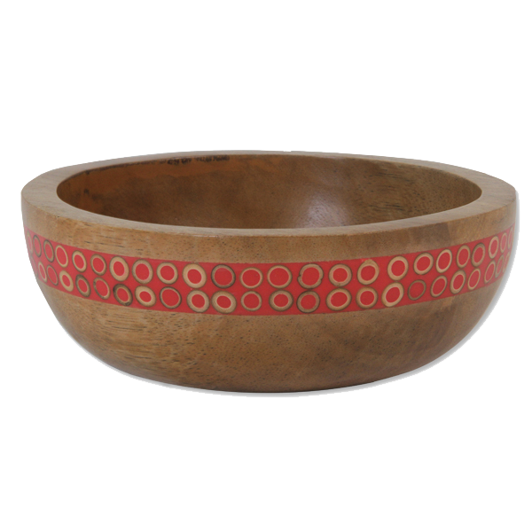 Persimmon Bamboo Inlaid Mango Small Salad Bowl