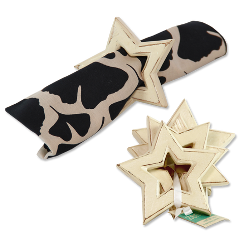 Set of 8 - Cream Star Napkin Rings