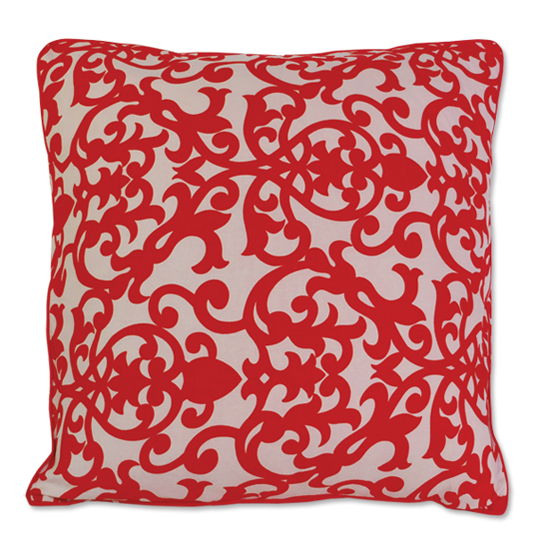 Red Florence Medium Cushion Cover