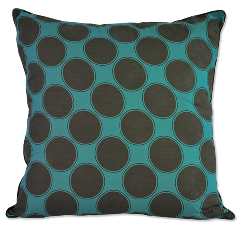 Teal Brown Ibiza Large Cushion Cover