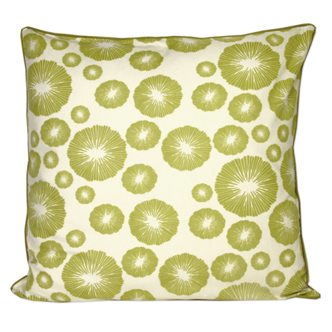 Green Seaflower Large Cushion Cover