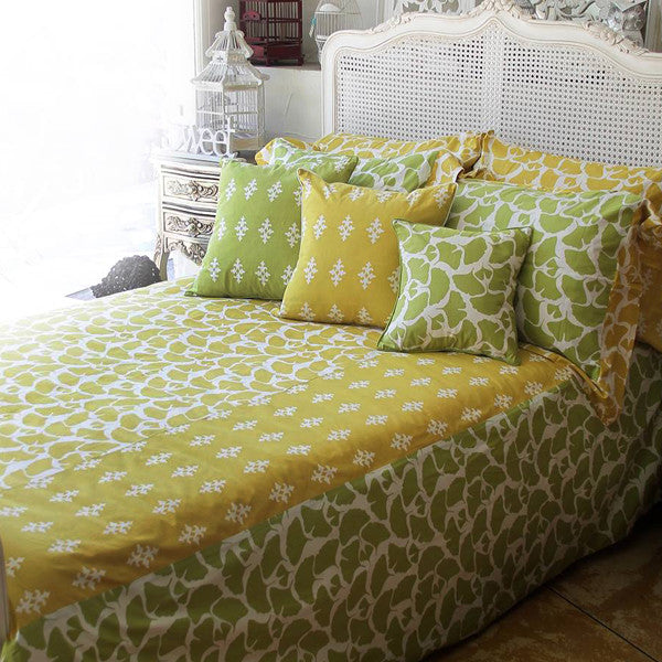 Citrus Ginkgo Duvet Cover in 2 sizes