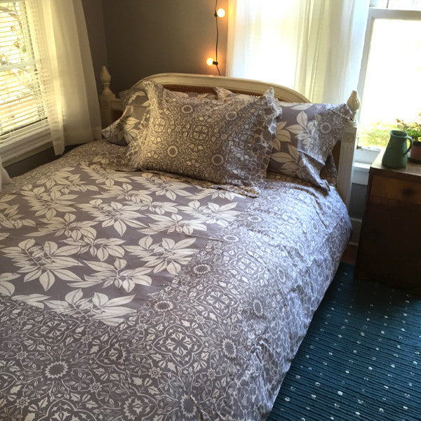 Lavender Grey Duvet Cover in 2 Sizes