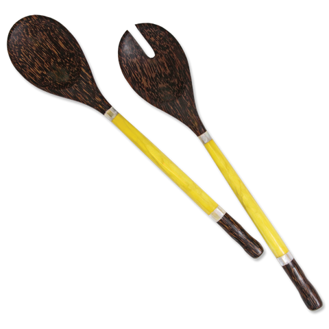 Citrus Capiz Handled Salad Servers