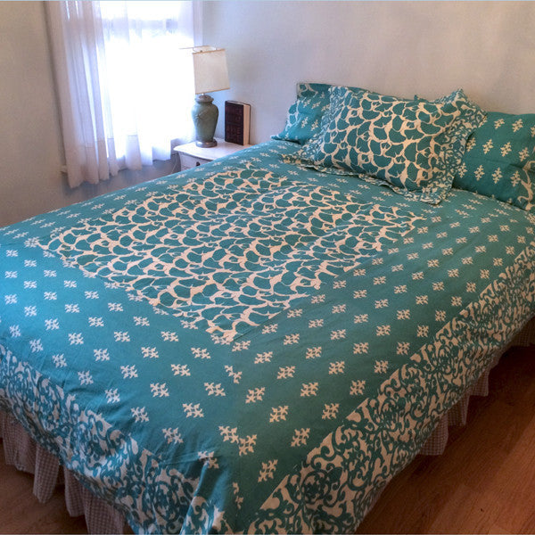 Teal Duvet Cover in 3 Sizes