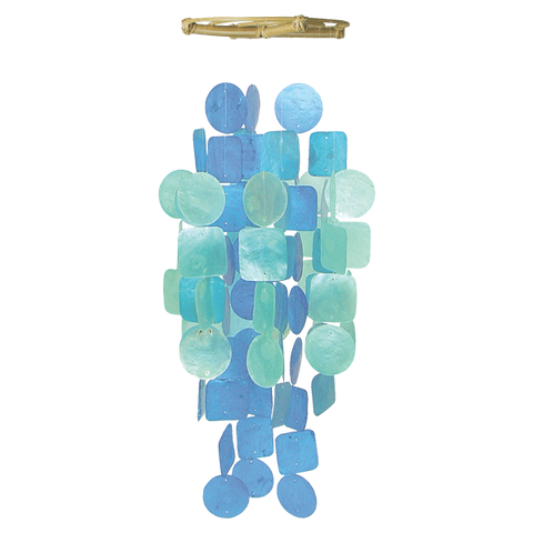 Blue Turquoise Medium Capiz Chime