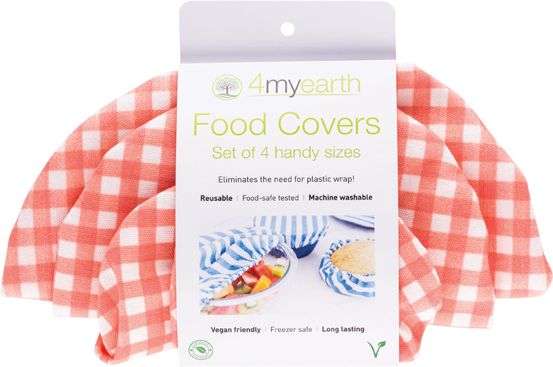 Food Cover Set of 4 - Red Gingham
