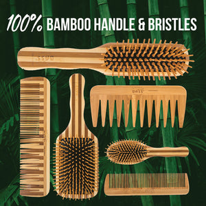 BASS Bamboo Wood Hair Brush - Small Oval
