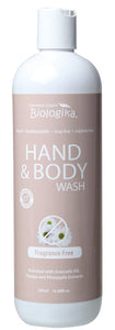 Biologika - Hand and Body Wash - Fragrance Free 500ml