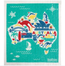 Load image into Gallery viewer, Biodegradable Dishcloth - Aussie and Christmas