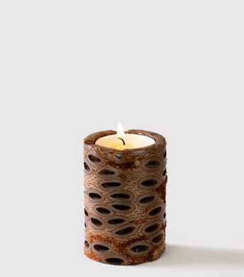 Pillar Tea Light Banksia Pod Candle