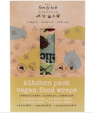 Load image into Gallery viewer, Vegan Food Wraps - Kitchen Set 4 wraps