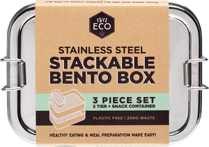 Stackable Bento Box - 2 tiered plus mini container