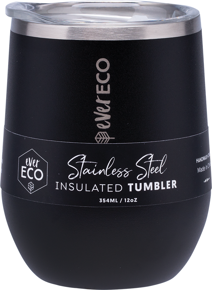 Insulated Stainless Steel Tumbler 354ml - Onyx