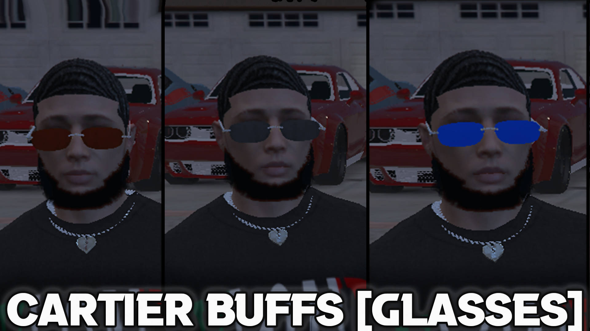 Cartier Buffs [Glasses] | [Custom 3D Model]