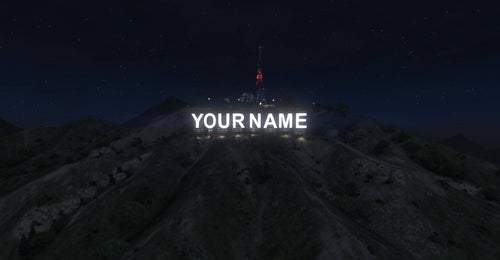 Custom Vinewood Sign