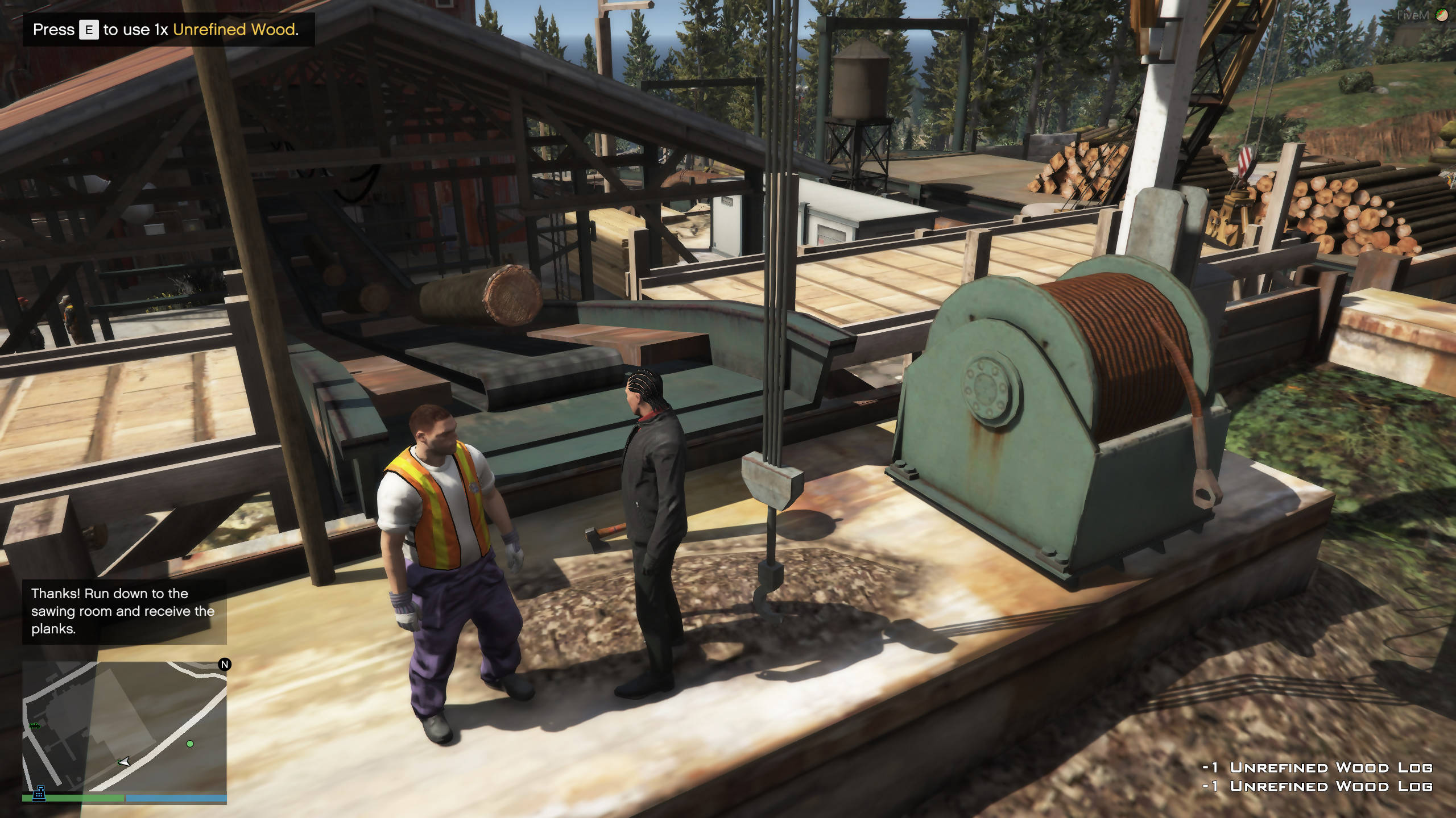 Lumber Yard | Chop, Refine and Sell Logs