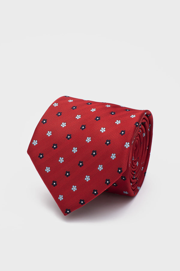 Corbata Checks Rojo