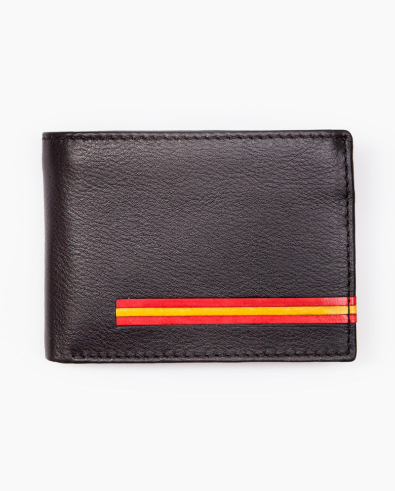 Cartera Horizontal Long Flag Negro
