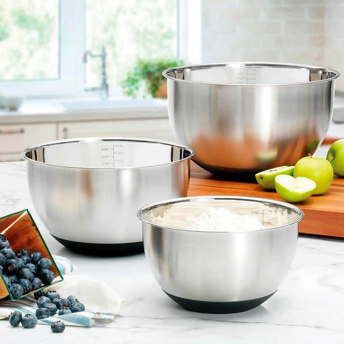 MIU STAINLESS STEEL MIXING BOWLS, SET OF 3