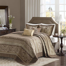 Load image into Gallery viewer, HOME ESSENCE MIRAGE 5 PIECE REVERSIBLE JACQUARD BEDSPREAD SET