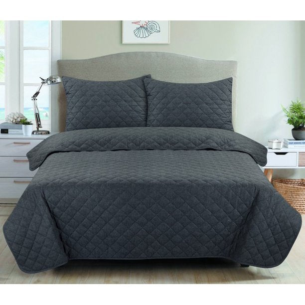 MAINSTAYS COTTON 2- PIECE TWIN/ TWIN - XL QUILT SET
