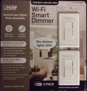FEIT ELECTRIC WIFI SMART DIMMER 2- PACK