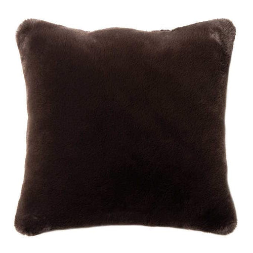 "CHOCOLATE BROWN FAUX FUR PILLOW 20""x20"""