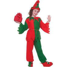 Load image into Gallery viewer, CHILDRENS SANTA'S ELF COSTUME SIZE S