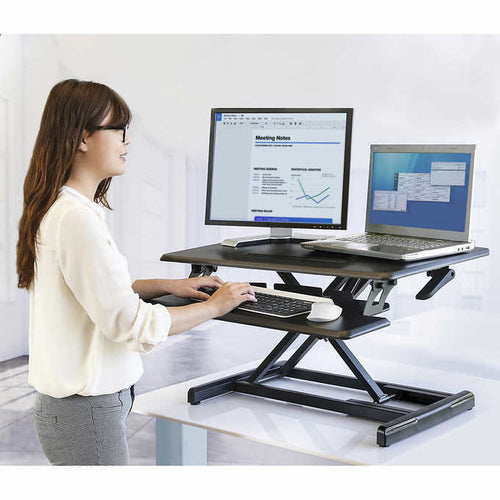 SEVILLE CLASSICS AIRLIFT PRO PNEUMATIC DESK RISER **REDUCED PRICE**