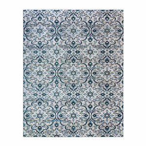 "CENTENNO RUG COLLECTION, MEDALLION BLUE 5'3"" X 7'"
