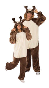 RUBIES DEER HOODED ONESIE UNISEX HALLOWEEN COSTUME CLOTHING SIZE: S/M