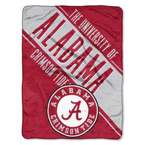 "NCAA ALABAMA CRIMSON TIDE 46"" X 60 SECTION MICRO RASCHEL THROW"