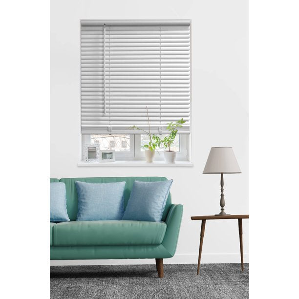 "MAINSTAYS 1"" CORDLESS ROOM DARKENING VINYL BLINDS WHITE (35 X 48 )"