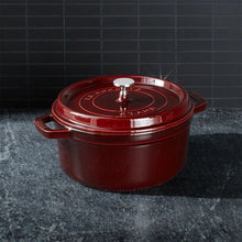 Load image into Gallery viewer, STAUB 4- QT GRENADINE ROUND COCOTTE